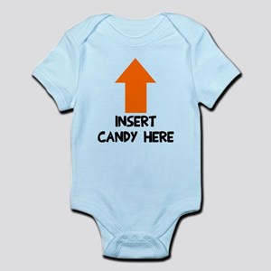 Insert candy here Infant Bodysuit