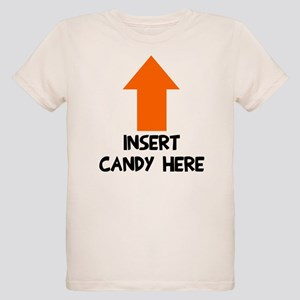 Insert candy here Organic Kids T-Shirt