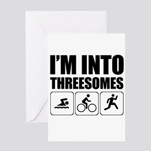 threesome Greeting Cards