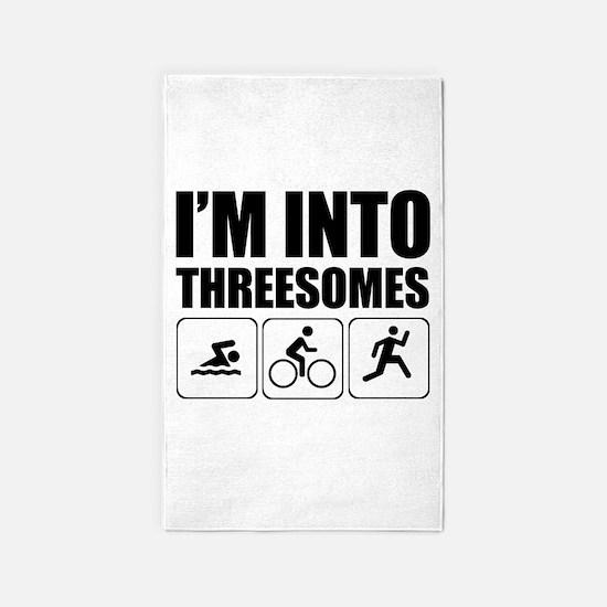 threesome 3'x5' Area Rug