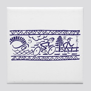 Triathlon Tile Coaster