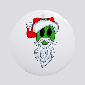 Christmas Alien Ornament (Round)