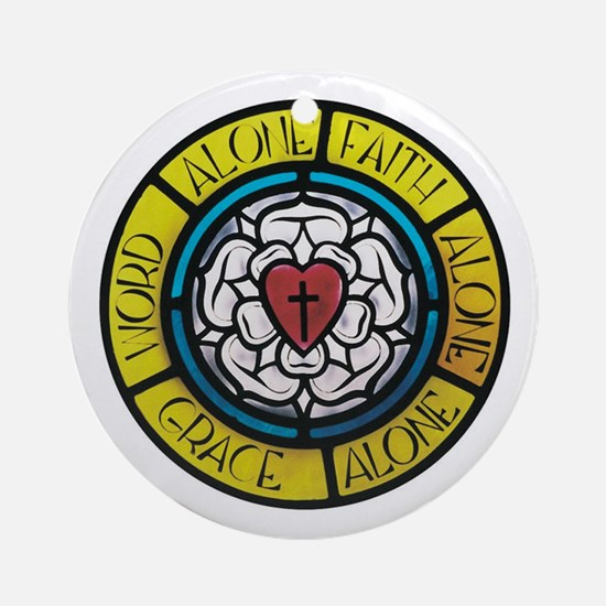 Luther's Rose- The Five Solas Ornament (Round)