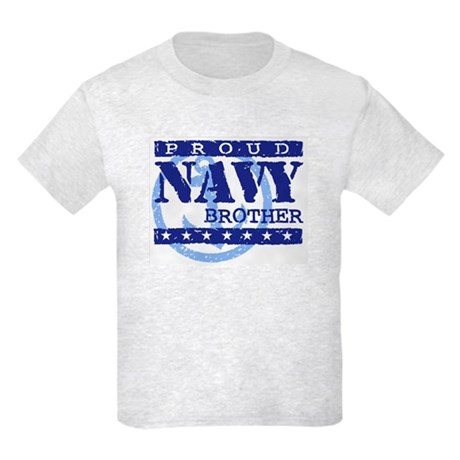 Proud Navy Brother Kids Light T-Shirt