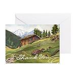 Alpine Thanks Greeting Cards