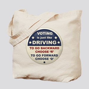 Voting Like Driving Tote Bag