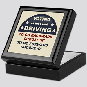 Voting Like Driving Keepsake Box