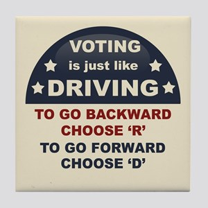 Voting Like Driving Tile Coaster