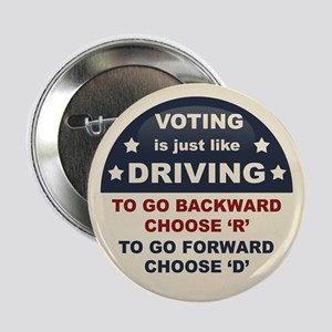 "Voting Like Driving 2.25"" Button"