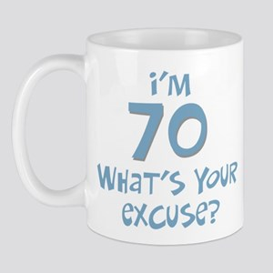 70th birthday excuse Mug