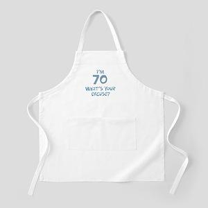 70th birthday excuse BBQ Apron