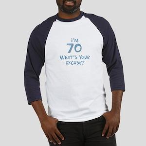 70th birthday excuse Baseball Jersey