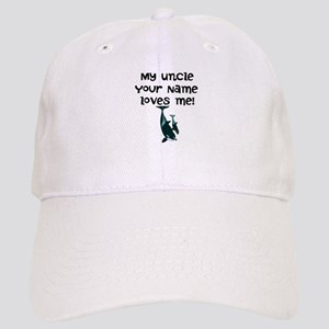 My Uncle Loves Me Orca Whales Baseball Cap
