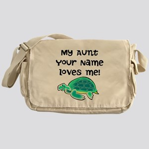 My Aunt Loves Me Turtle Messenger Bag