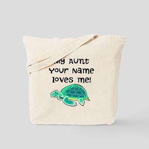 My Aunt Loves Me Turtle Tote Bag