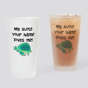 My Aunt Loves Me Turtle Drinking Glass