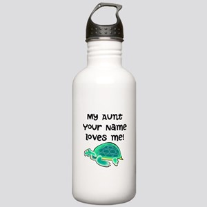My Aunt Loves Me Turtle Water Bottle