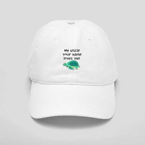 My Uncle Loves Me Turtle Baseball Cap