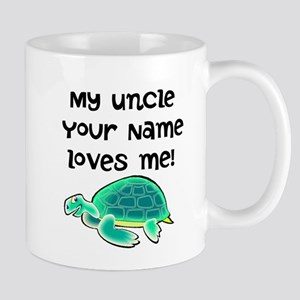 My Uncle Loves Me Turtle Mugs