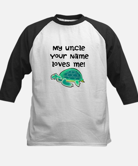 My Uncle Loves Me Turtle Baseball Jersey