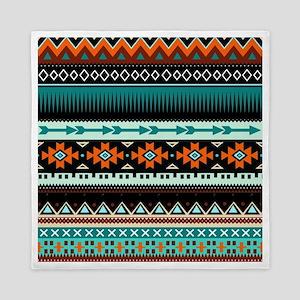 Colorful Aztec Tribal Queen Duvet