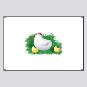 Momma Hen and Chicks Banner