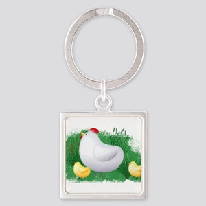 Momma Hen and Chicks Keychains