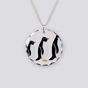 Penguin Parade Necklace Circle Charm