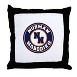 Norman Nobodies Throw Pillow