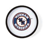 Norman Nobodies Wall Clock