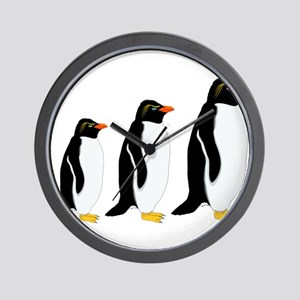 Penguin Parade Wall Clock