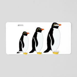 Penguin Parade Aluminum License Plate