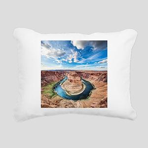 Horseshoe Bend Rectangular Canvas Pillow