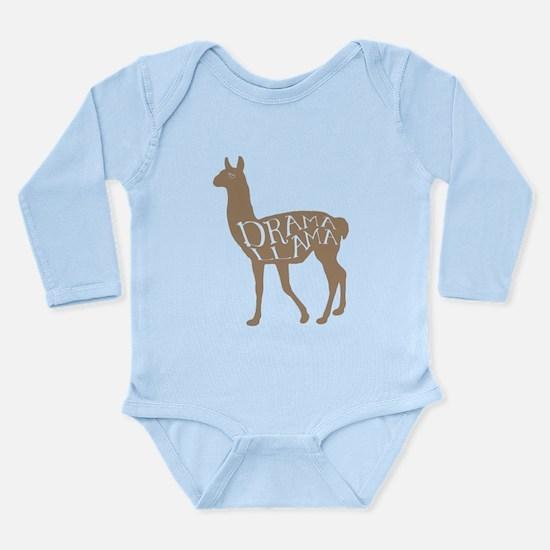 Cute Drama llama Long Sleeve Infant Bodysuit