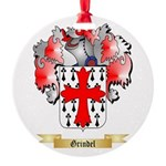 Grindel Round Ornament