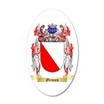 Grimes 20x12 Oval Wall Decal