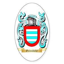 Grimbleby Sticker (Oval)