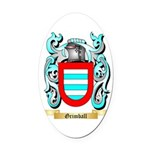 Grimball Oval Car Magnet