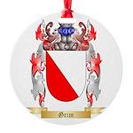 Grim Round Ornament