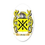 Grills Oval Car Magnet