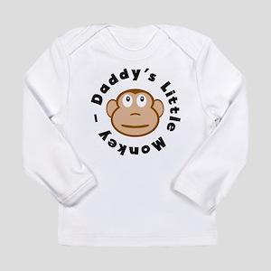 Daddys Little Monkey Long Sleeve T-Shirt
