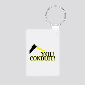 You Conduit Aluminum Photo Keychain