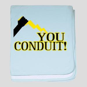 You Conduit baby blanket