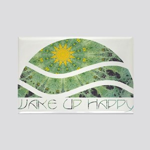 Wake Up Happy Rectangle Magnet