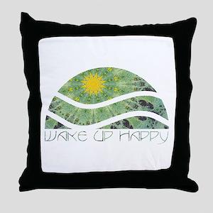 Wake Up Happy Throw Pillow