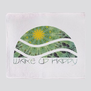 Wake Up Happy Throw Blanket