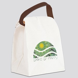 Wake Up Happy Canvas Lunch Bag