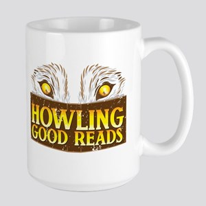 Howling good reads DISTRESSED bookstore logo The M
