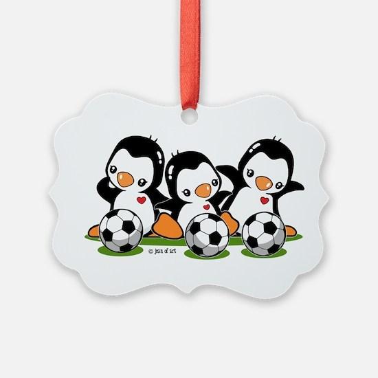 Soccer Penguins Ornament