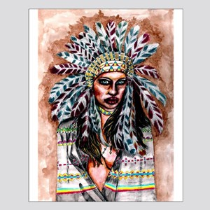 Lumbee Woman Posters Small Poster
